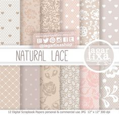 Lace Patterns Digital Paper Nude Background Vintage colors pale pink purple pale beige roses flowers invitations blog scrapbooking supplies
