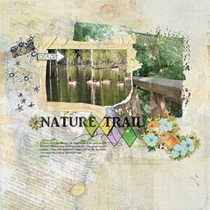 digital layout made by Flor using Nature Trails by Dawn Inskip
