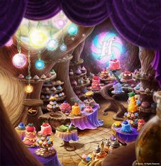 close up of game background for Pixie Hollow
