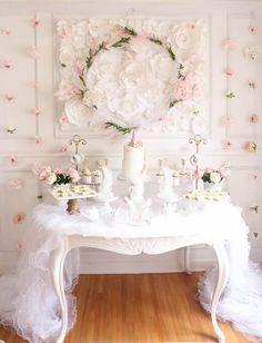 Dessert table from a Floral Unicorn Birthday Party on Kara's Party Ideas | KarasPartyIdeas.com (17)