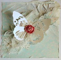 Бумага-Марака: Алое сердце бабочки.   Red Heart