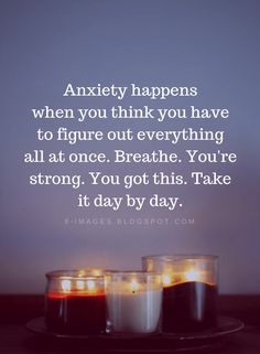 Anxiety Quotes Anxiety happens when you think you have to figure out everything all at once. You're strong. Truth Quotes, Wisdom Quotes, Quotes To Live By, Me Quotes, Motivational Quotes, Inspirational Quotes, You Are Strong Quotes, Fact Quotes, Spiritual Quotes