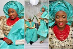 turquoise-gold-red-beads-nigerian-traditional-wedding-feferity