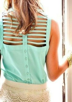 Mint Sprinkles Current Obsession: Cutouts | Mint green sleeveless top via Obaz