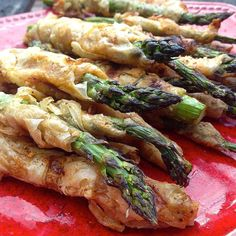 #grilled #asparagus in #phyllo  I could have this as a meal-