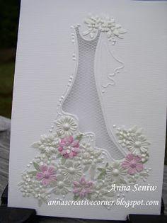 A Peek Inside The Creative Corner: Beautiful Bridal Card