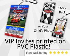 Cars Invitation PLASTIC Cars Cars Invitation Birthday