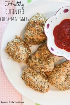 "Healthy Gluten-Free (and low-carb) Chicken Nuggets. Lauren says, ""I make these almost weekly! Get rid of your processed chicken nuggets, these are crazy healthy and kids love them!"" from Lauren Kelly Nutrition."