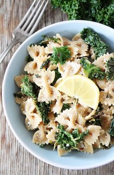 Goat Cheese Lemon Pasta with Kale.