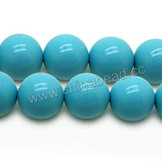 Gemstone Beads, Imit. Blue Turquoise, Smooth round, Approx 18mm, Hole: Approx 1.2mm, 22pcs per strand, Sold by strands