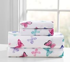 Organic Lace Butterfly Sheet Set #pbkids