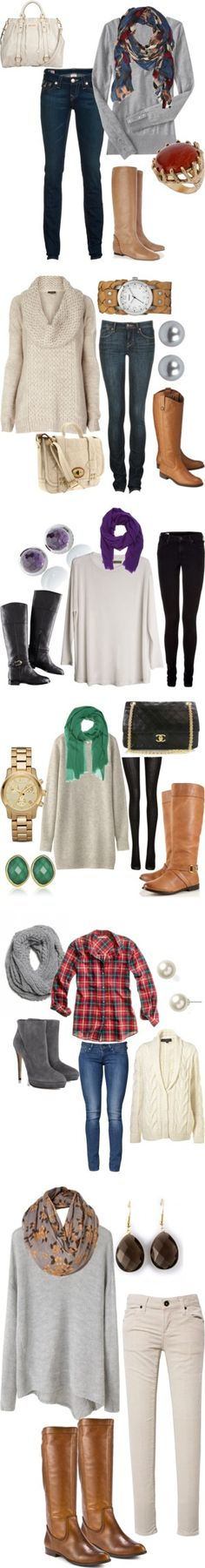 skinny jeans/leggings and big, comfy sweaters.. fall favorites