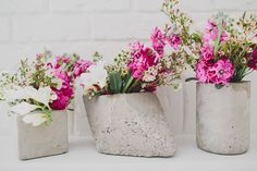 Did you love the cement centerpieces from the Modern Watercolor inspiration shoot we shared earlier today? Katie Pritchard created a fun DIY on how to create your own cement shapes for your wedding! These are great pieces if you're looking to DIY your own flowers, or if you want a more industrial feel to your...