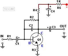 preamplificador con transistor