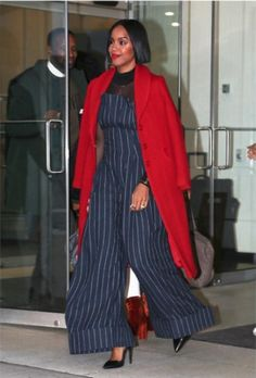 WE LOVE Kelly Rowland wearing our Koryn Coat! Available online NOW!