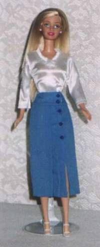 skirt tutori, pattern, barbi skirt