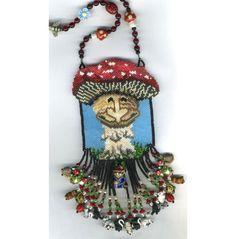 Mushroom Spirit Necklace by beadedbear on Etsy, $725.00