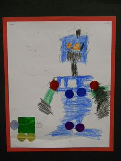 Shape Robot created by one of my Kindergarten students.