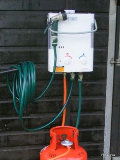 Portable Eccotemp Heated Horse Washers - another way for a shower