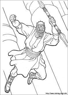 Star Wars coloring pages for M's party