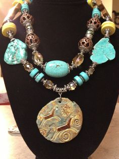Chunky Turquoise Necklace by CowgirlInspiration on Etsy, $56.00