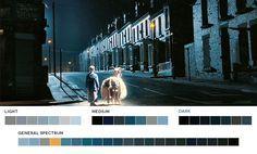 Danny Boyle Week Millions, 2004 Cinematography: Anthony Dod Mantle Palette Art, Blue Palette, Movies In Color, Cinema Colours, Cinematic Photography, Film Grab, Film Inspiration, Color Studies, Color Swatches