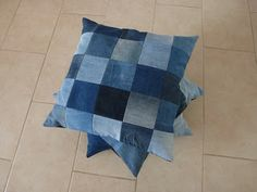 Mrs Busy: Recycle: patchwork kussens