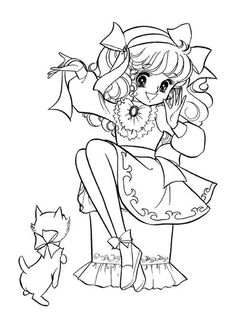 Anime Coloring Pages | anime christmas couple colouring ...