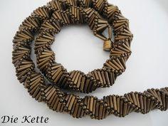 Colliers - Bronzene Traum Kette -  Statement mal anders - ein Designerstück von Die-Kette bei DaWanda