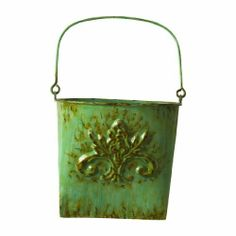 """Wilco Imports  AQ Metal Wall Baskets Set of  Aqua by Wilco Imports. $18.36. Aqua, Metal (Set of 3) Wall Baskets, Largest Size 8-1/2-inch by 4-1/2-inch by 8"""". Aqua, Metal, Set of Three Wall Baskets, Largest Size 8-1/2-inch by 4-1/2-inch by 13.-1/4-inch H"""