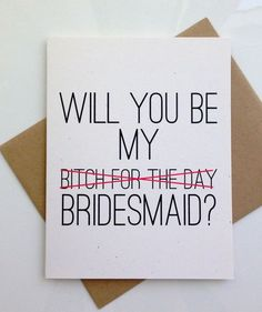 Will you Be My Brides Maid Card, Bridesmaid Card, Will you Be my Bridesmaid…