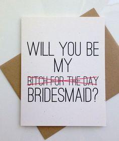 Will you Be My Brides Maid Card, Bridesmaid Card, Will you Be my Bridesmaid…