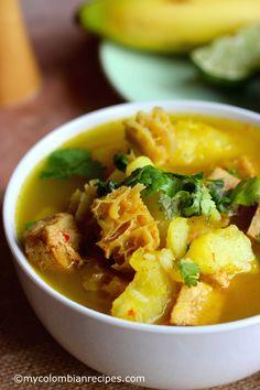 Mondongo Colombiano (Pork, Tripe and Chorizo Soup) Tripe Recipes, Cuban Recipes, Soup Recipes, Cooking Recipes, Healthy Recipes, Tripe Soup, Chorizo Soup, Colombian Cuisine, My Colombian Recipes