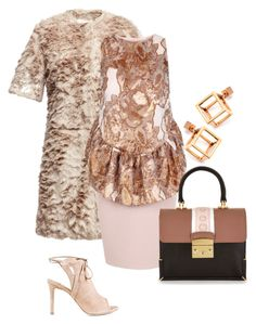 """""""Blush and bronze"""" by runway2street ❤ liked on Polyvore featuring The 2nd Skin Co., Caterina Zangrando and Isa Tapia"""