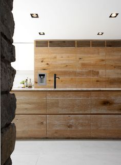 Textured wood in the kitchen