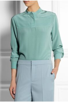 Chloe: it's all about the silk crepe de chine blouses this summer.