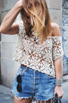 blusa tejida