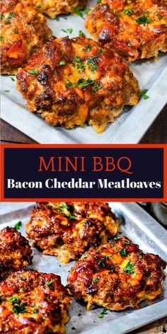 Bacon Meatloaf, Good Meatloaf Recipe, Meat Loaf Recipe Easy, Mini Meatloaf Recipes, Bacon Wrapped Meatloaf, Ground Beef Recipes For Dinner, Bacon Recipes For Dinner, Recipes With Bacon Crumbles, Ground Beef Dishes