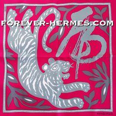 "The Chinese Year Of The Tiger scarf titled ""Annee Du Tigre"" dedicated by Hermes Paris to the #tiger #horoscope  #PocketScarf #Gavroche is now in our store! http://forever-hermes.com #ForeverHermes featuring a rich red-fuchsia background with the adorable Tiger and the respective Kanji character. The best gift for your dear ones born in 2010, 1998 1986 1974 1962, 1950, 1938, 1926, 1914 #Hermes #hermescollector #HermesParis #HermesCarre #MensSuit #mensnecktie #necktie #womensfashion"