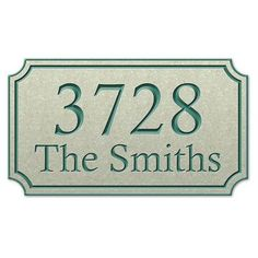 TheStoneMill Corian Radius Corner Rectangular Address Plaque Size: Small, Color: Night Shadow Black, Font Color: Essex Green
