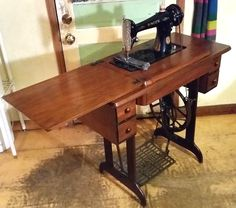 This one is the very same treadle Singer 66 sewing machine as the Singer Lotus.  The only difference is the decal pattern.  This one, at this time, is still available on our website, http://stagecoachroadsewing.com.