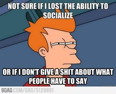 When it comes to talking to people...