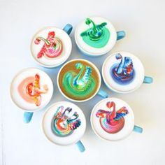 Rainbow latte, Piggyback Café | Just 33 Really Photogenic Meals You Can Order In…