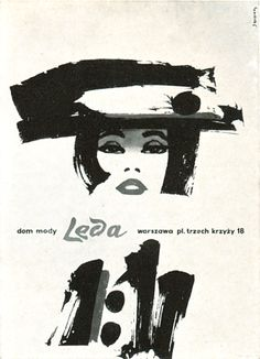 Ad for Leda (a fashion store in Warsaw) Design by P.P. Reklama, 1963