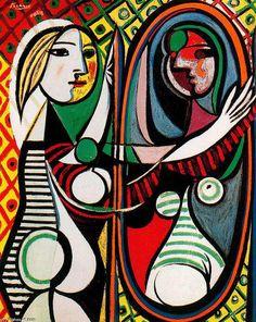 'mädchen vor spiegel', 1932 von Pablo Picasso (1881-1973, Spain)