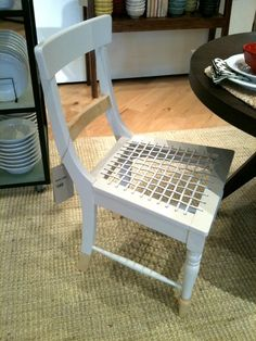 Painted South African Riempie chair