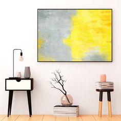 Yellow and Grey Abstract Art Yellow Art by InspirationAbstracts   #Art #AbstractArt #Prints #Printable #WallArt #Modern #Springdecor #Homedecor #Yellow #Grey #Interiordesign
