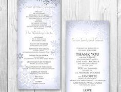 WINTER WEDDING PROGRAM Order of service by DesignedWithAmore, $25.00