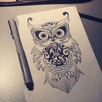 henna owl - Bing Images