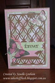 Card made during a Couture Creations class at Brisbane Papercraft Expo 2014